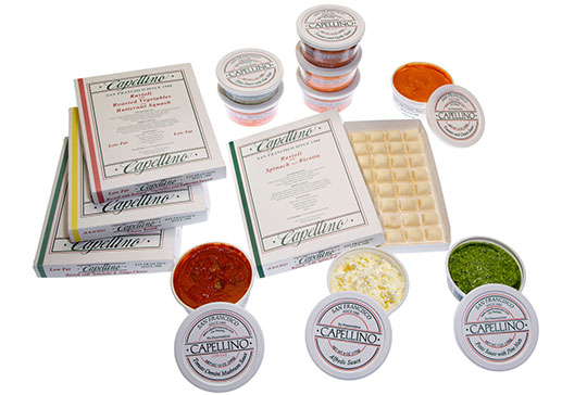 A product shot for Capellino Pasta.
