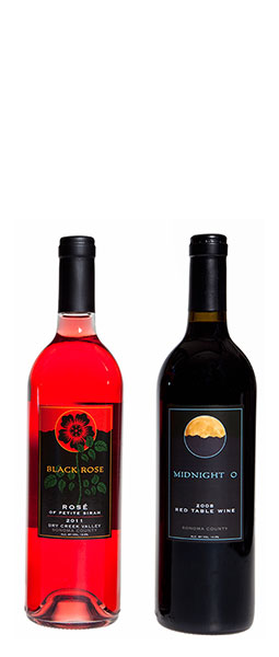 Shippey Vineyards - Two Bottles of Wine - Black Rose and Midnight O.
