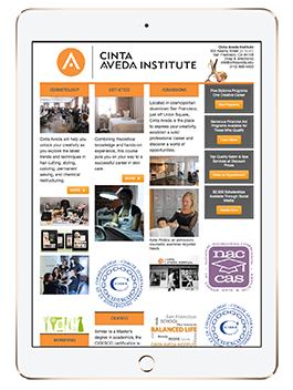 Cinta Aveda Institute on an iPad2