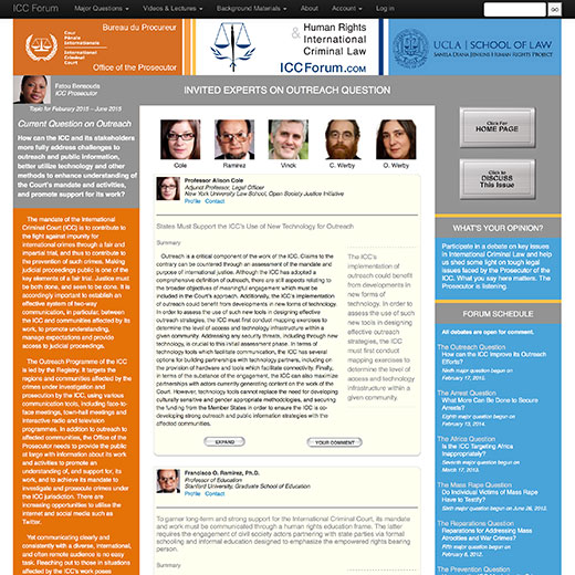ICCForum Outreach Invited Expert Page