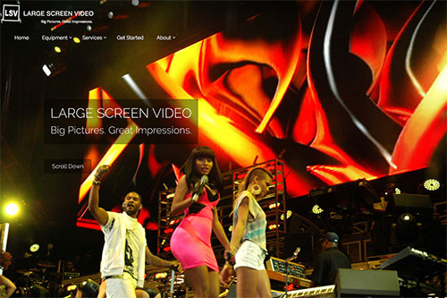 Large Screen Video — Home Page